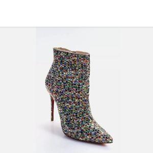 Christian Louboutin Metallic So Kate 100 booties